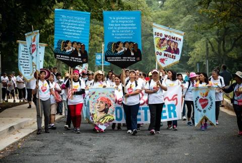 100 Women, 100 Miles Pilgrimage For more information visit http://www.webelongtogether.org/